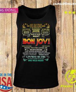 Bon Jovi livin' on a prayer you give love a bad name s Tank top