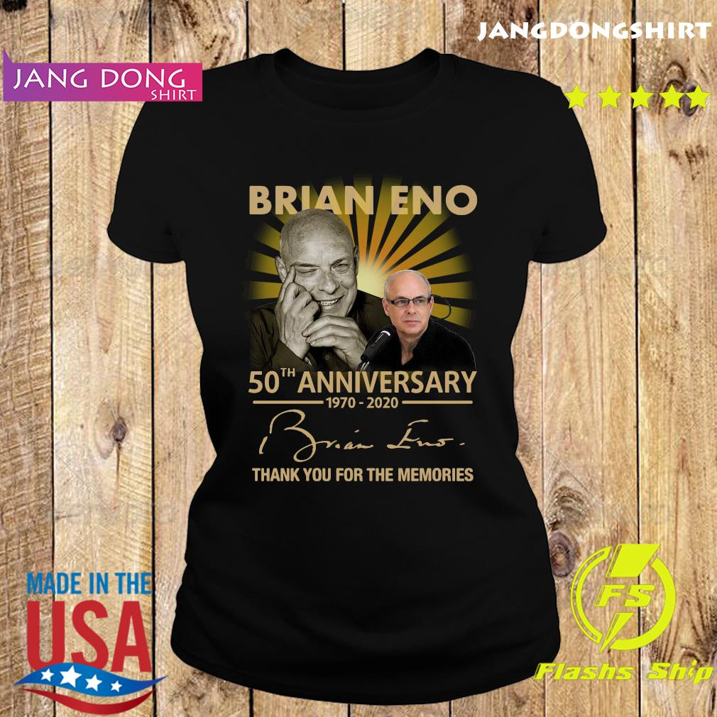 Brian eno 50th anniversary 1970 2020 thank you for the memories signature s Ladie tee