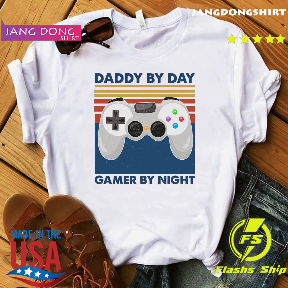 Controller Daddy By Day Gamer By Night Shirt