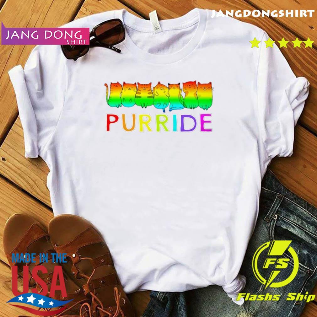 Purride Cat Lgbt Pride Tee Gift Shirt