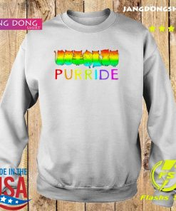 Purride Cat Lgbt Pride Tee Gift Shirt Sweater