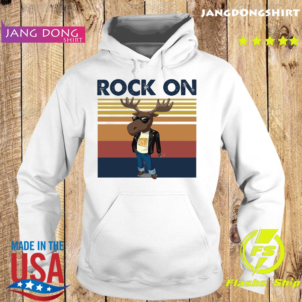 Rock On Reindeer Glasses Vintage Retro Shirt Hoodie