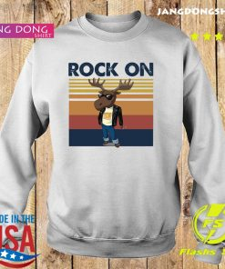 Rock On Reindeer Glasses Vintage Retro Shirt Sweater