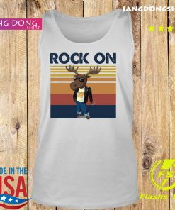 Rock On Reindeer Glasses Vintage Retro Shirt Tank top