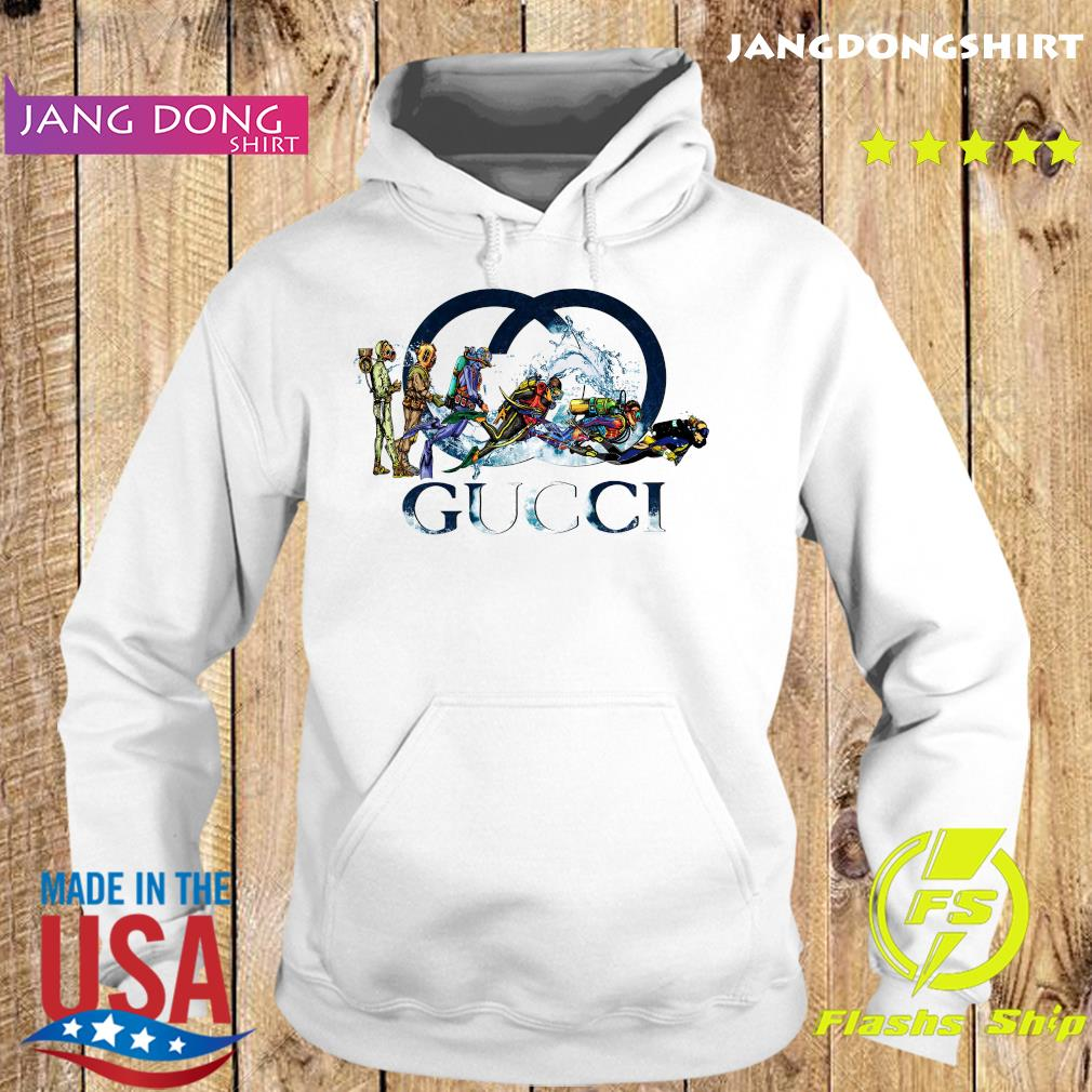 Scuba Diving Gucci Logo Shirt Hoodie
