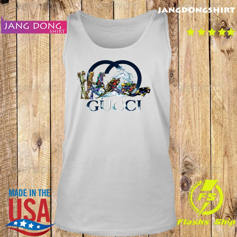 Scuba Diving Gucci Logo Shirt Tank top