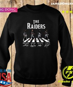 The Raiders Walking The Abbey Road Bo Jackson Marcus Allen Signatures Shirt Sweater