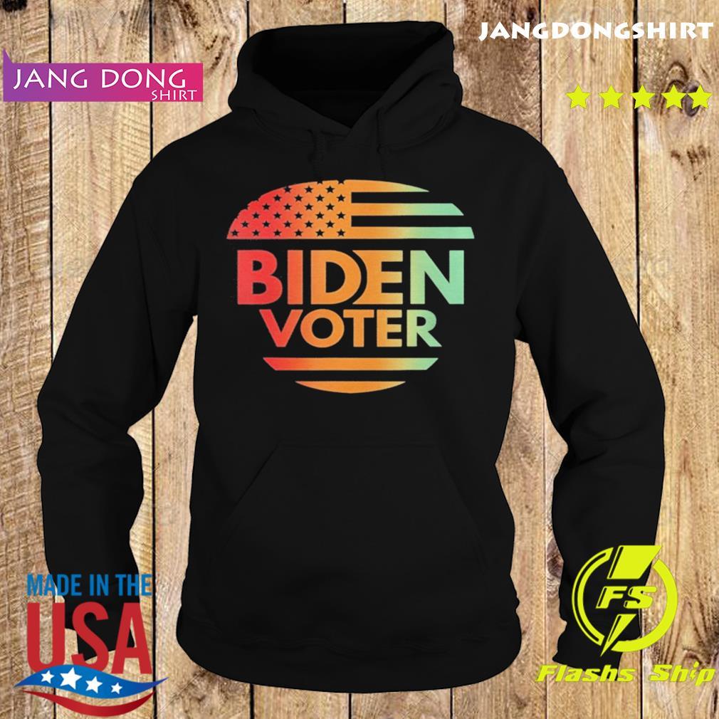 Biden Voter American Flag Vintage Retro s Hoodie