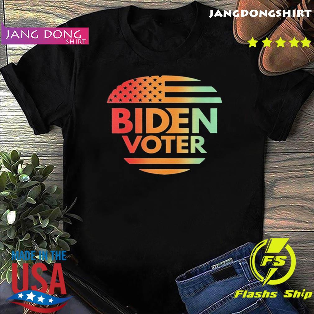 Biden Voter American Flag Vintage Retro shirt