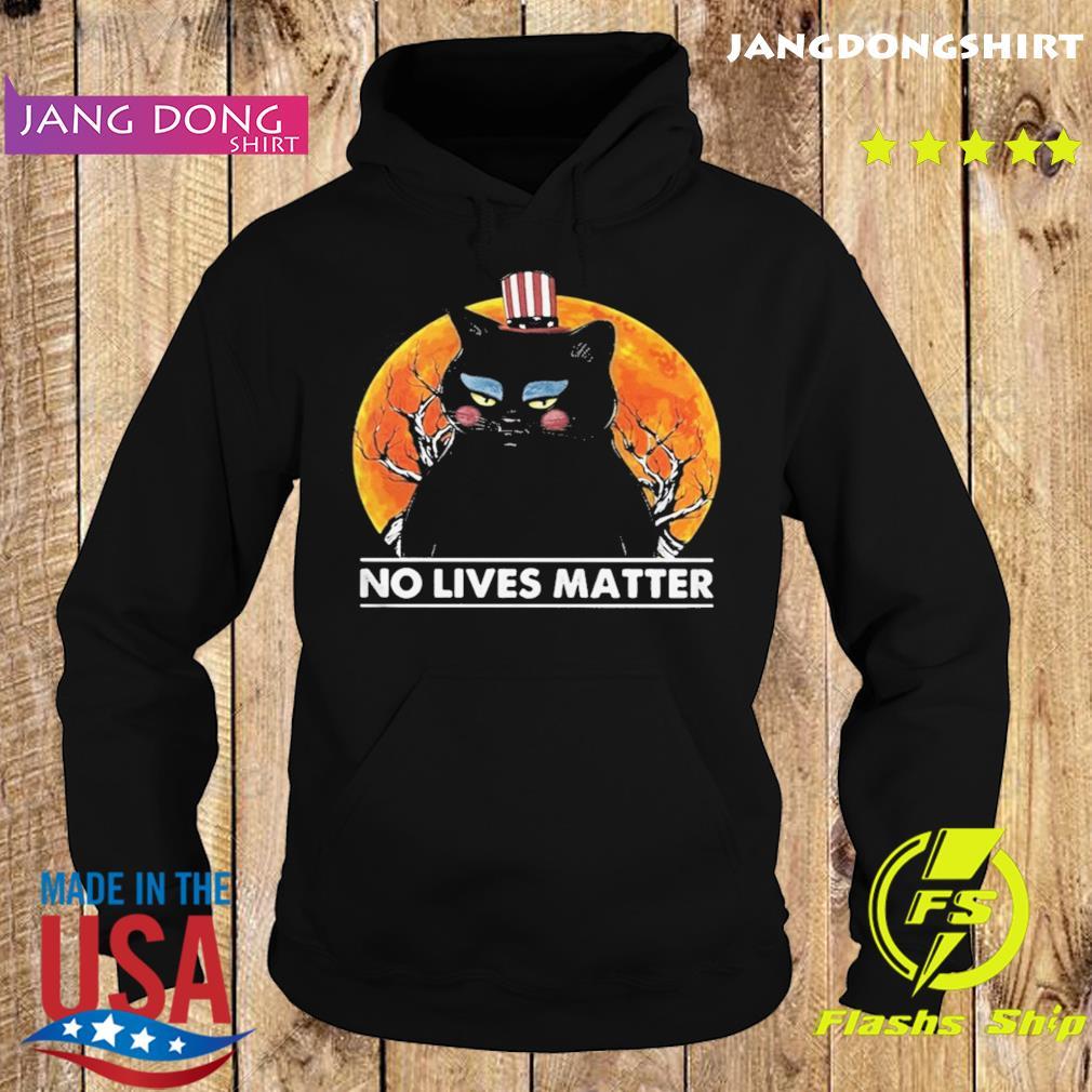 Black Cat No lives matter sunset s Hoodie