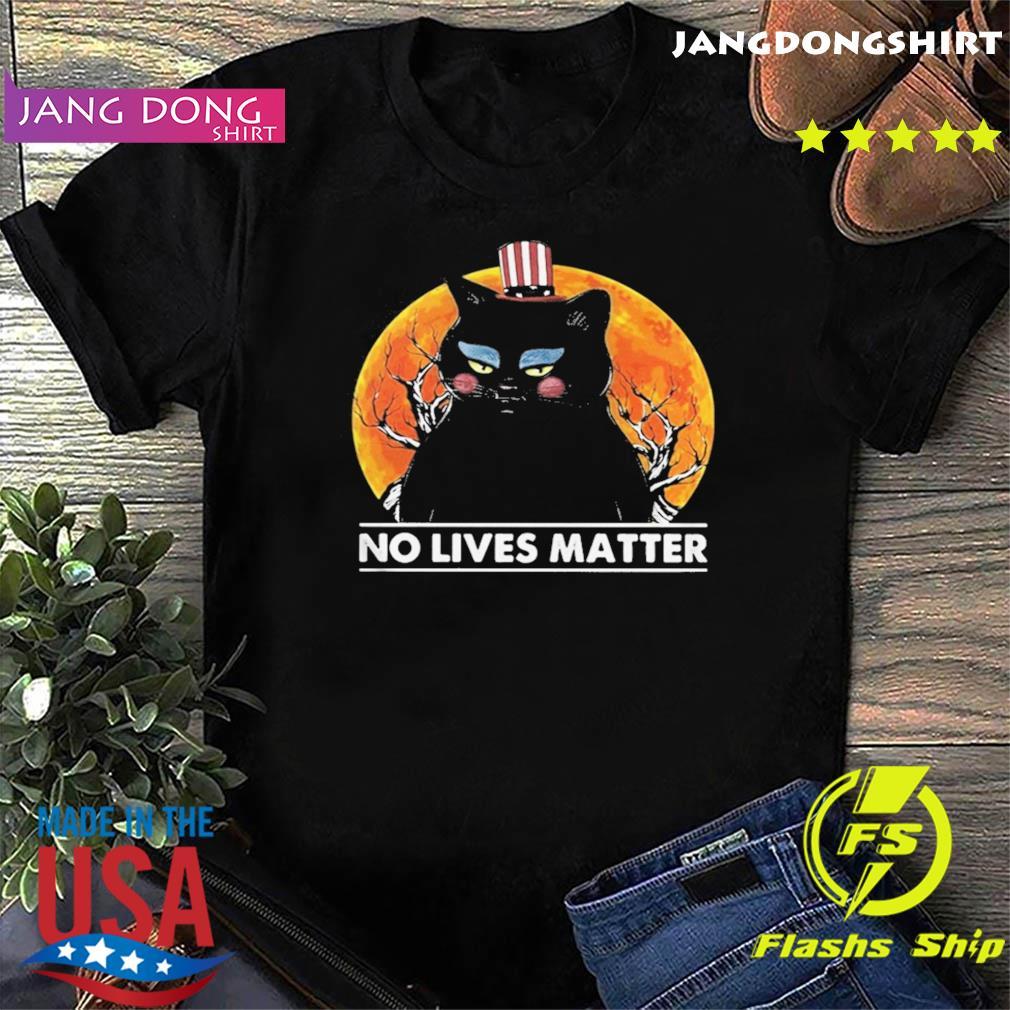 Black Cat No lives matter sunset shirt