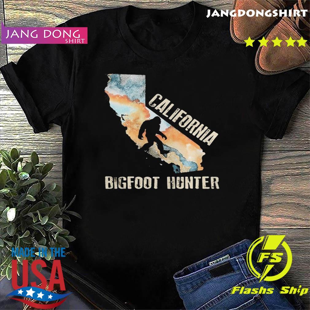 California bigfoot hunter sunset shirt