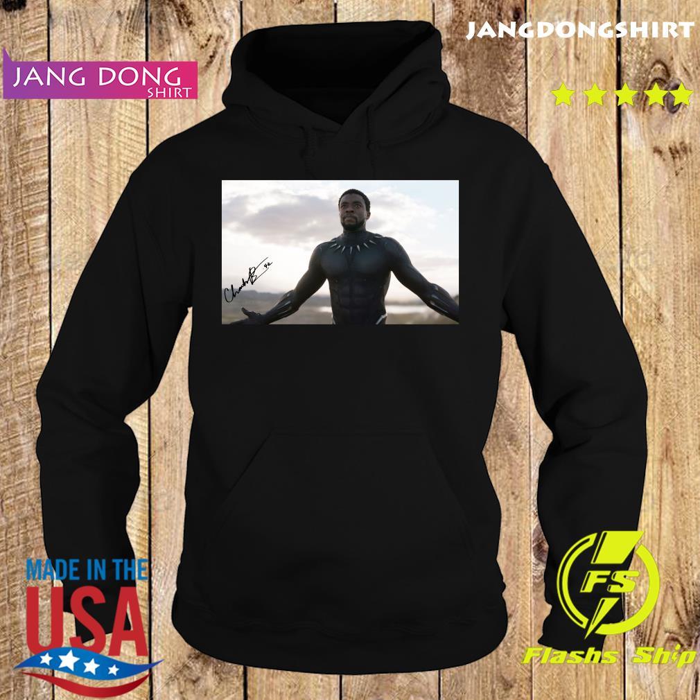 Chadwick Boseman Black Panther Signature Rip Shirt Hoodie