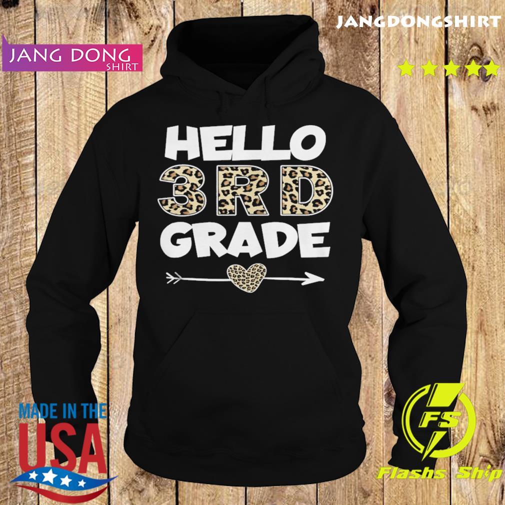 Hello 3rd Grade Leopard Print Third Grade Teacher Kids s Hoodie