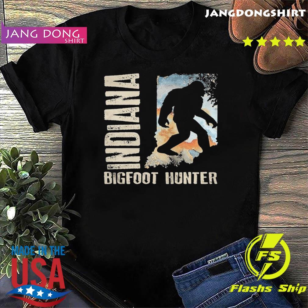Indiana bigfoot hunter sunset shirt