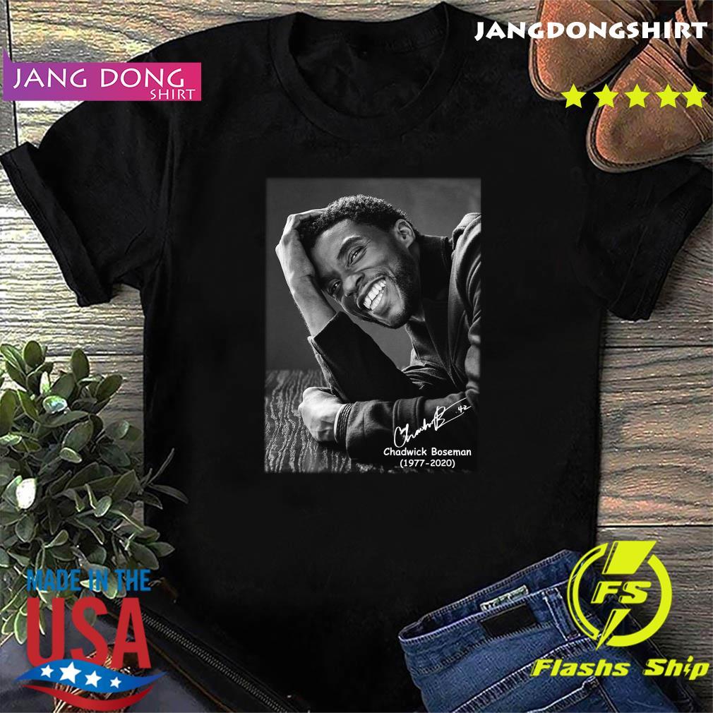 Official Rip Chadwick Boseman 1977 2020 Black Panther Signature Shirt