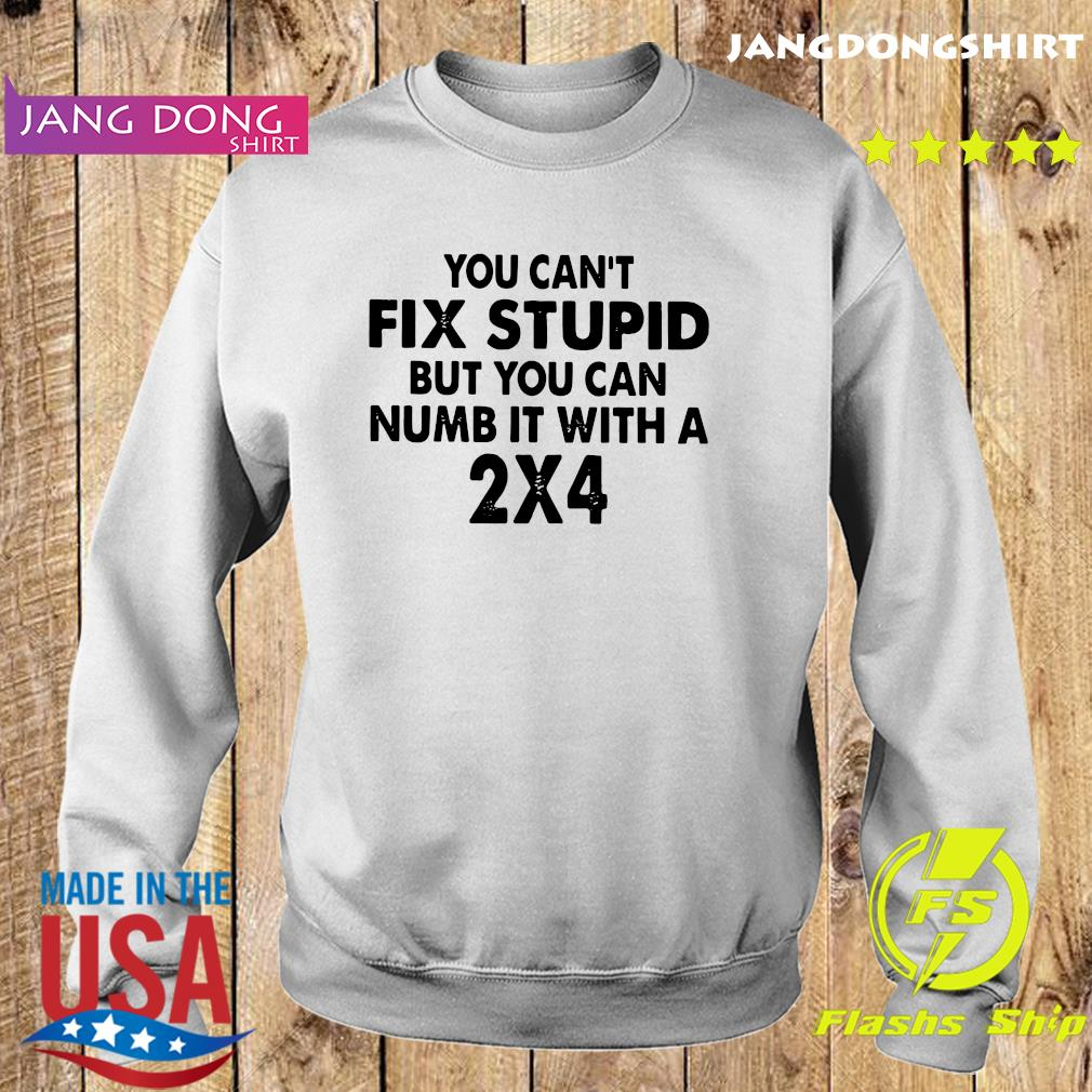 You Can't Fix Stupid But You Can numb it with A 2X4 T-Shirt Sweater
