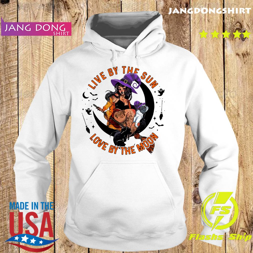 Halloween Witch Tattoo Live By The Sun Love By The Moon Shirt Hoodie