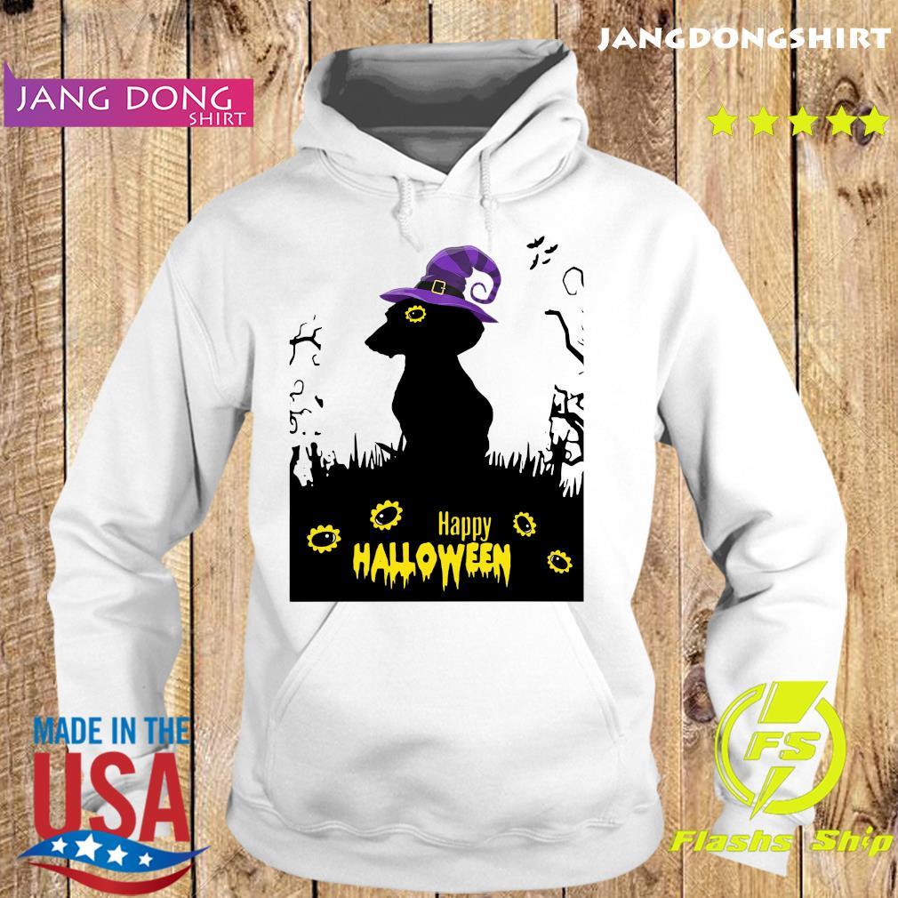 Happy Halloween Dachshund Witch Shirt Hoodie
