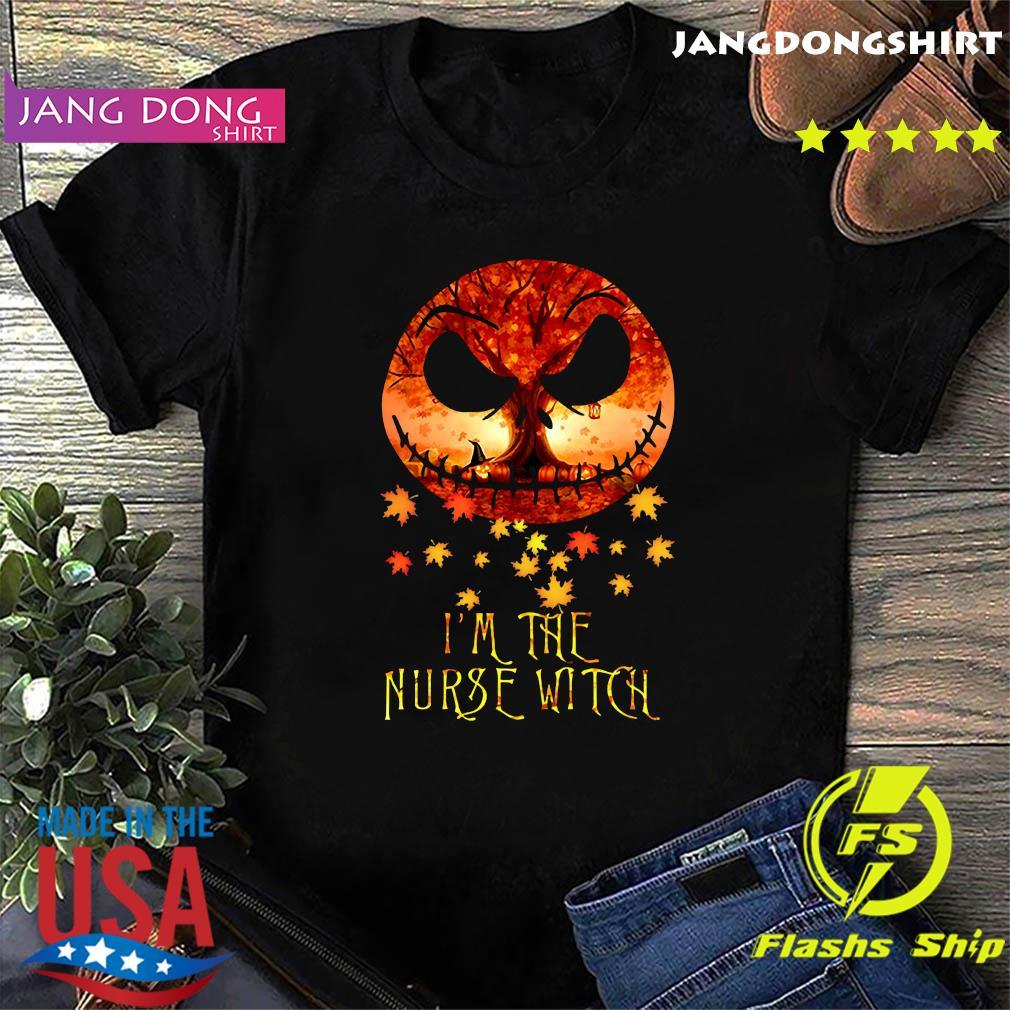 Jack Skellington I'm The Nurse Witch Halloween Shirt