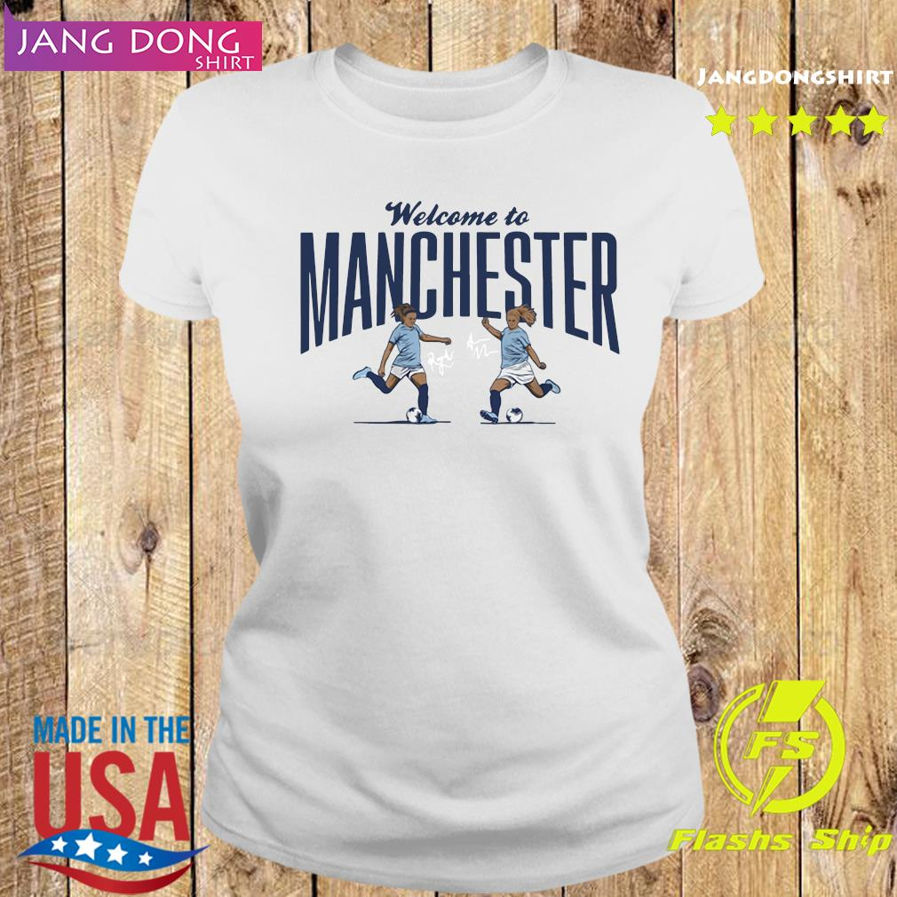 Lavelle ' Mewis Welcome to Manchester Official T-Shirt Ladies tee