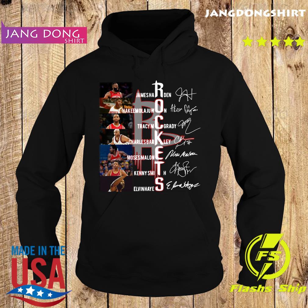 Rockets Jamesharden Hakeemolajuwon Tracymcgrady Signatures Shirt Hoodie