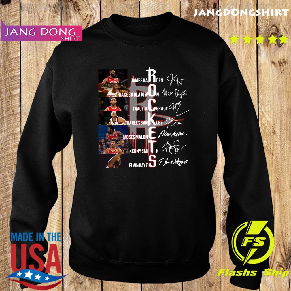 Rockets Jamesharden Hakeemolajuwon Tracymcgrady Signatures Shirt Sweater