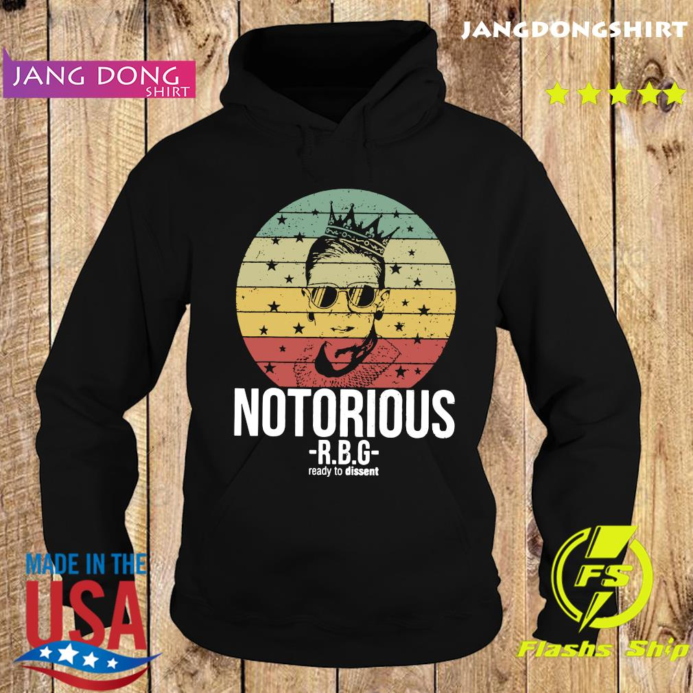 Vintage Notorious Ruth Bader Ginsburg RBG Ready To Dissent Shirt Hoodie