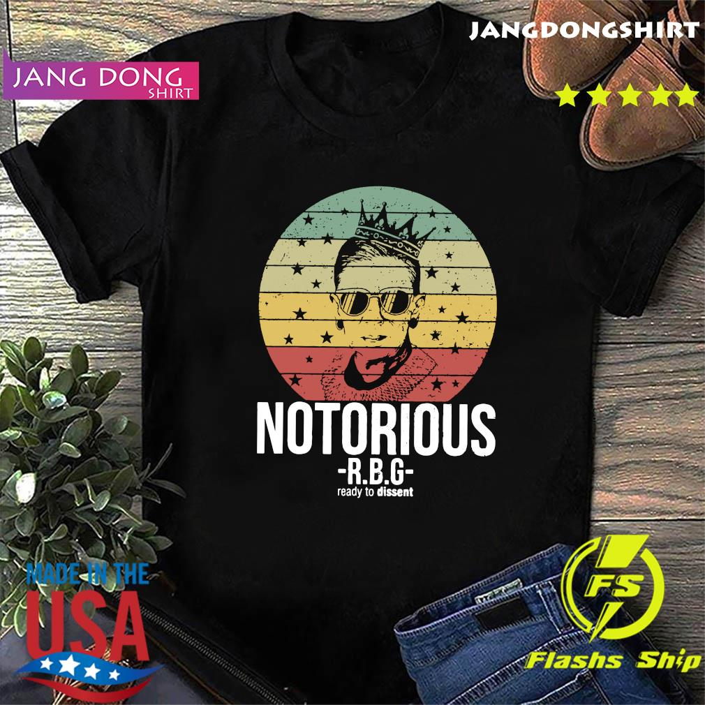 Vintage Notorious Ruth Bader Ginsburg RBG Ready To Dissent Shirt