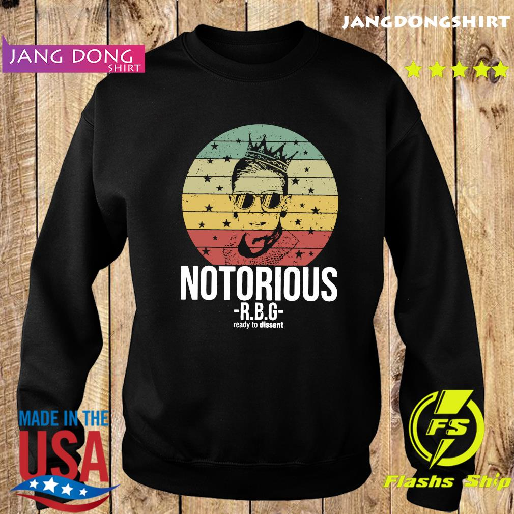 Vintage Notorious Ruth Bader Ginsburg RBG Ready To Dissent Shirt Sweater