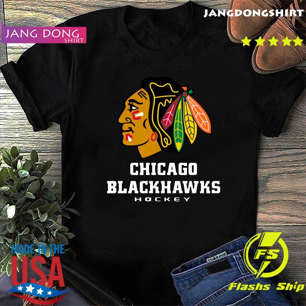 Logo NHL Chicago Blackhawks Hockey T-Shirt