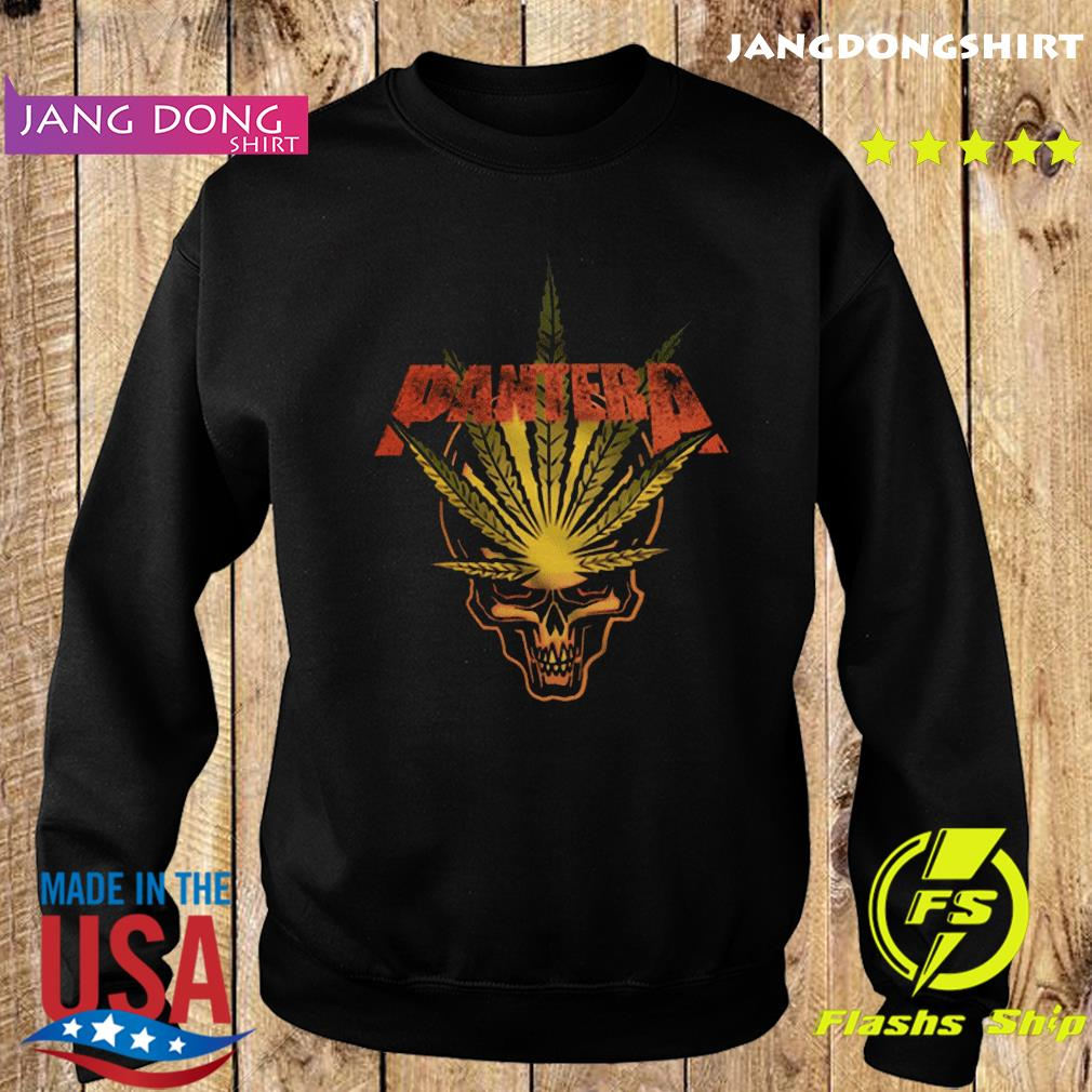 Pantera Weed Leaf Skull T-Shirt Sweater