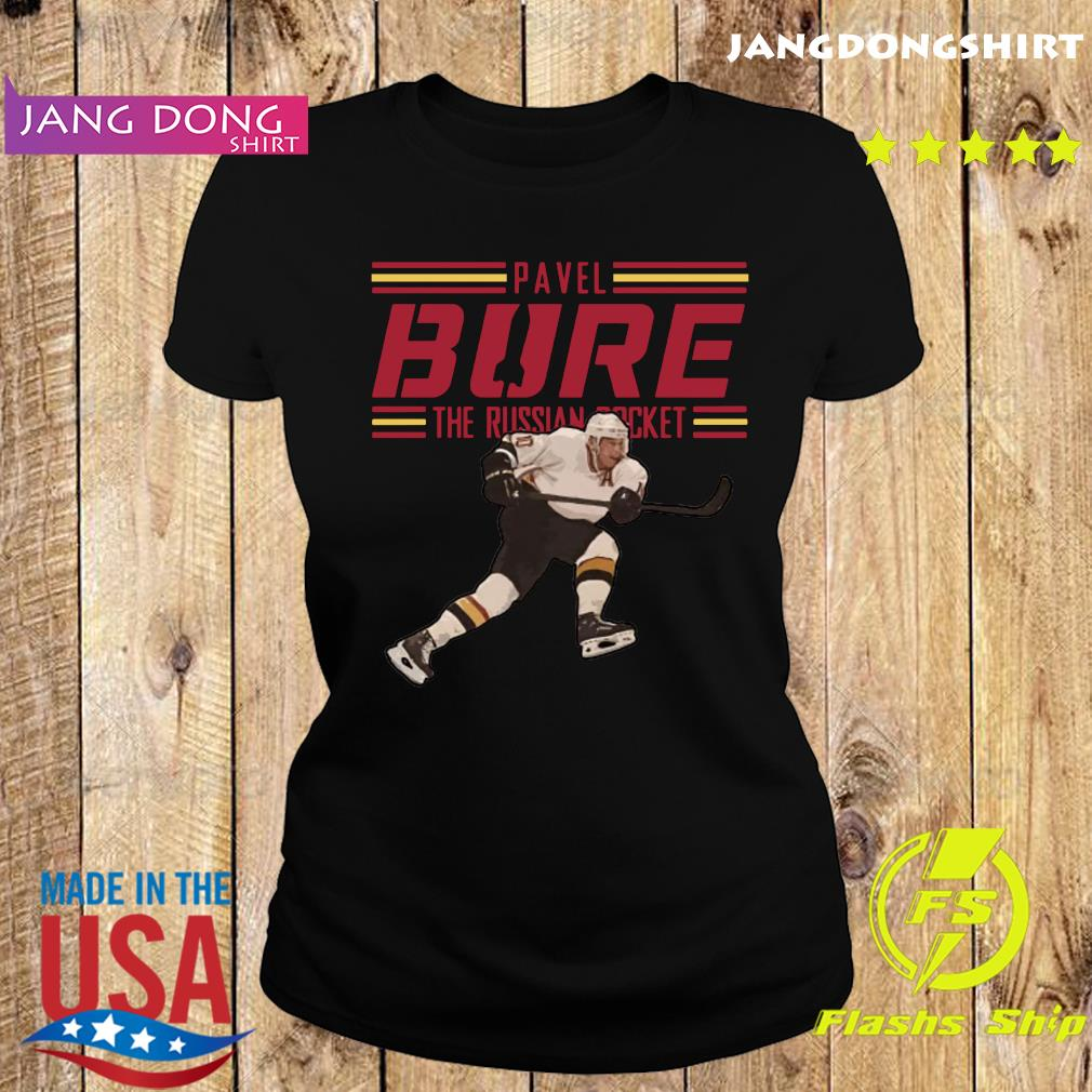 Pavel Bure The Russian Rocket Play T-Shirt Ladie tee