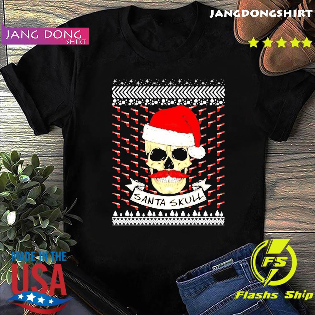 Santa Skull ugly Christmas Shirt