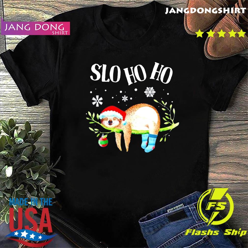 Sloth slo ho ho Christmas 2020 T-Shirt