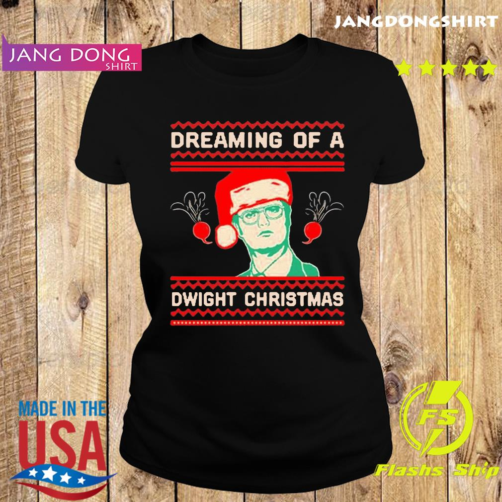 The Office TV series Dreaming of a Dwight Christmas T-Shirt Ladie tee