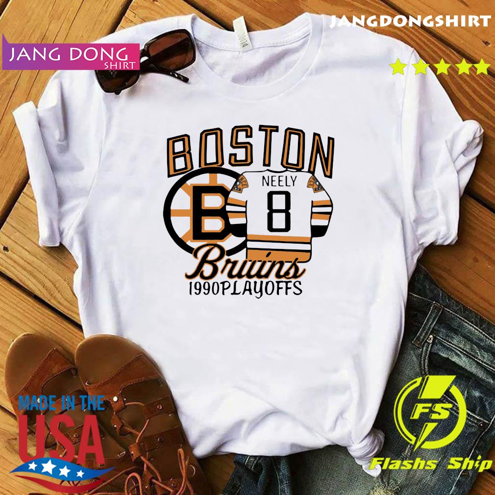 The Bruins 1990 Playoffs Boston 8 Neely Shirt