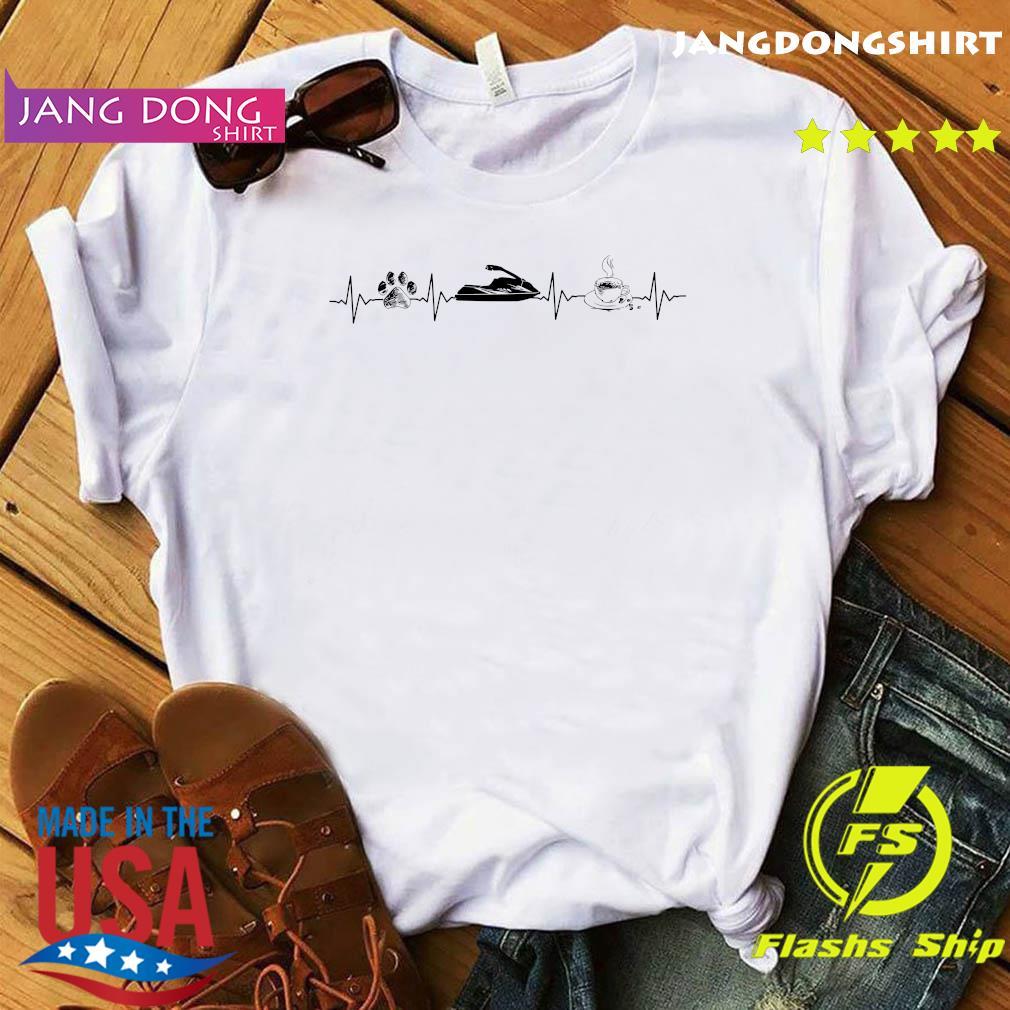 Heartbeat Dog Jet Ski And Coffee Shirt