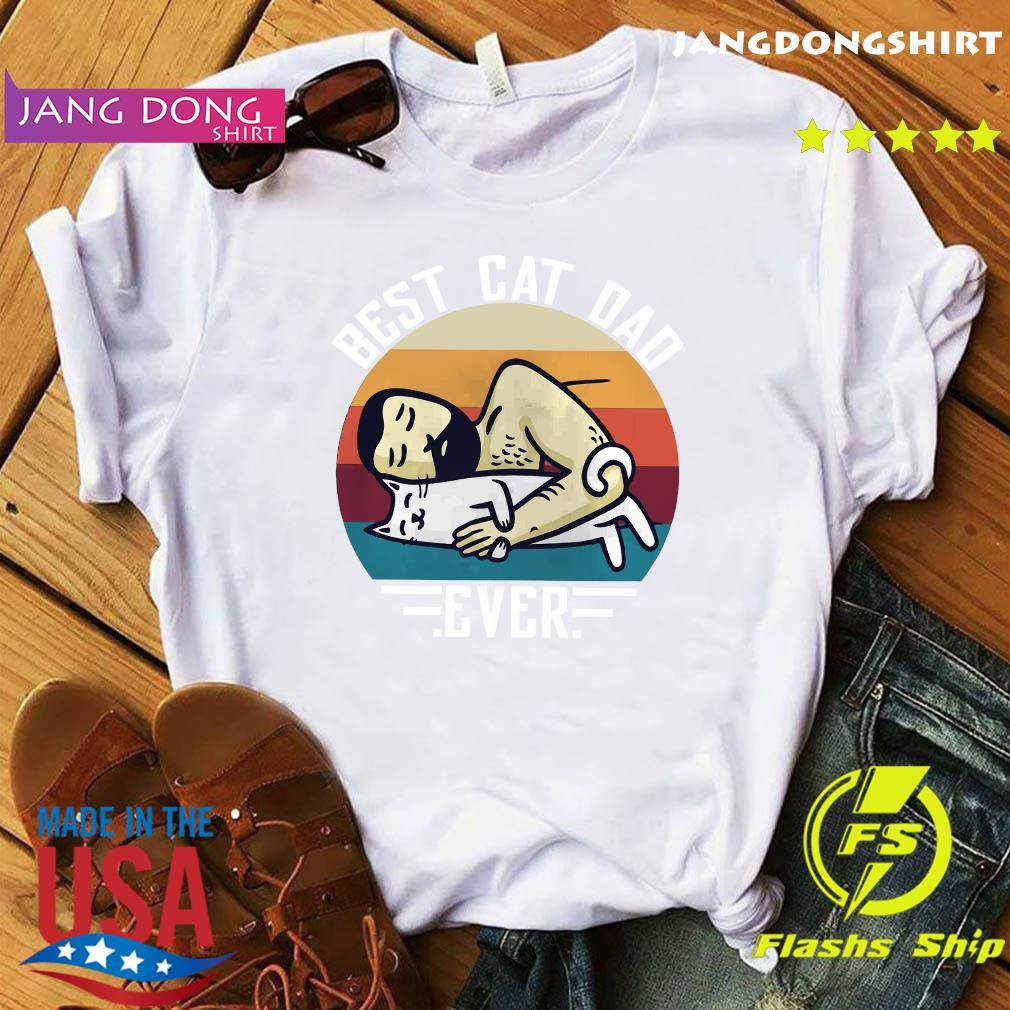 Official Best Cat Dad Ever Sleeping Vintage Shirt