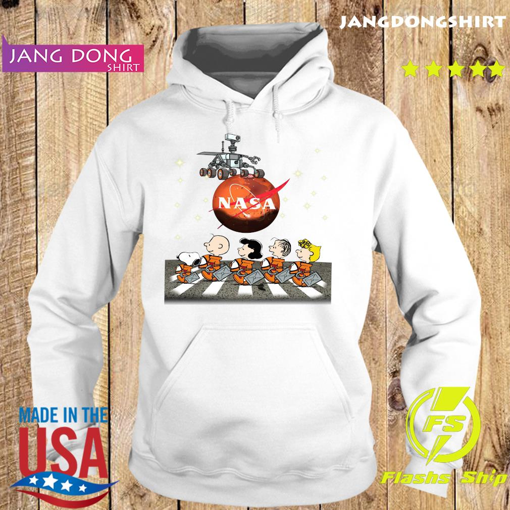 Official NASA Snoopy Charlie Brown And Friends Abbey Road Mars Perseverance Rover Mission 2020 Shirt Hoodie