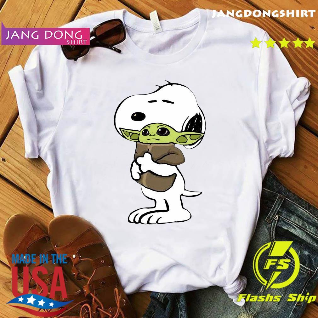Official Snoopy Hug Star Wars Baby Yoda 2021 Shirt