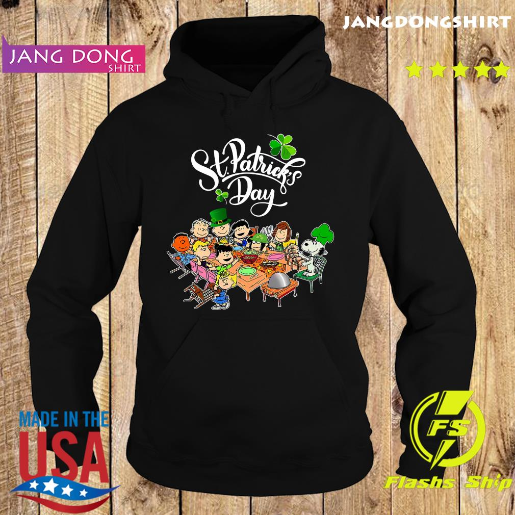 Snoopy And The Peanut Movie Party Happy St Patrick's Day Shirt Hoodie