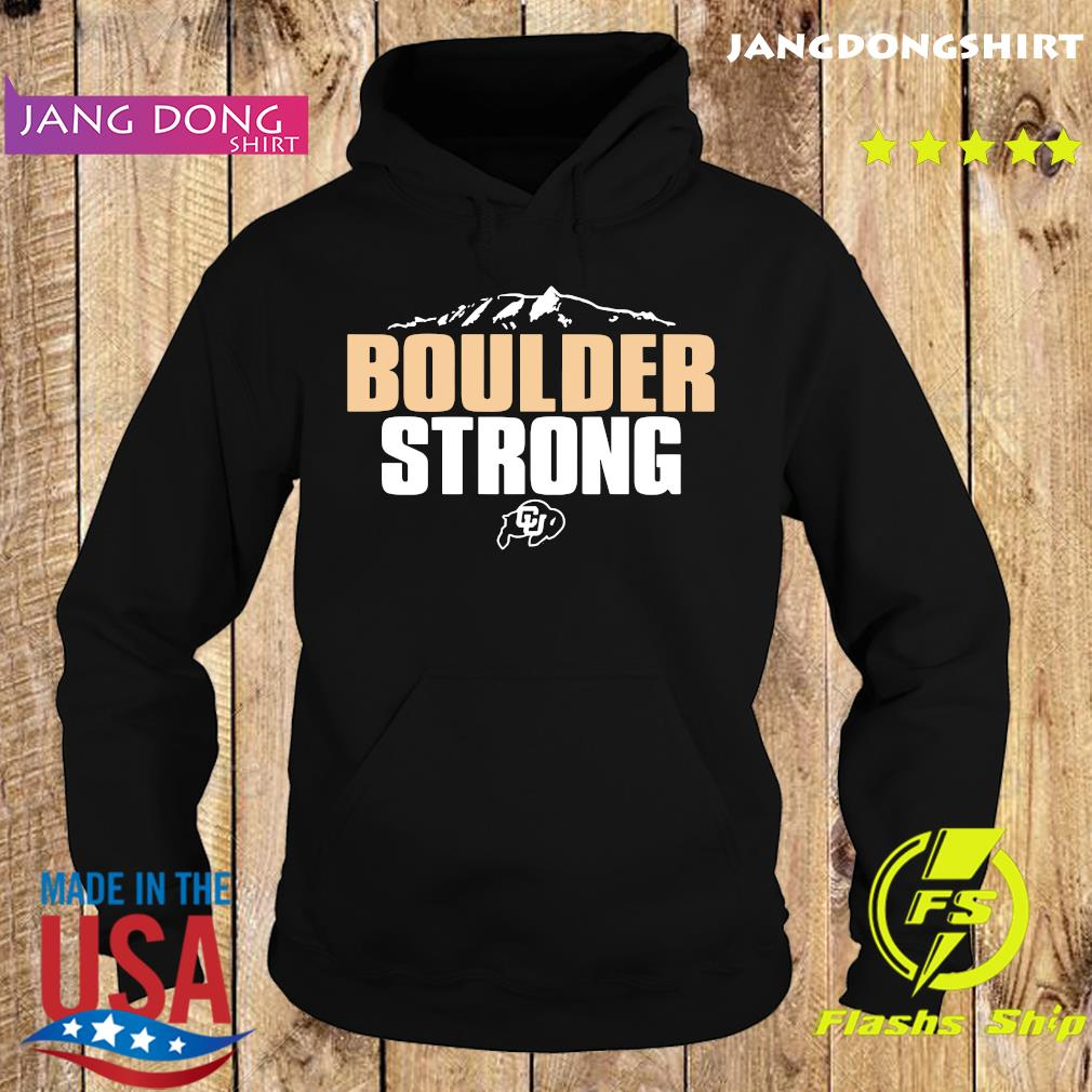 official Colorado Buffaloes Boulder Strong T-Shirt Hoodie