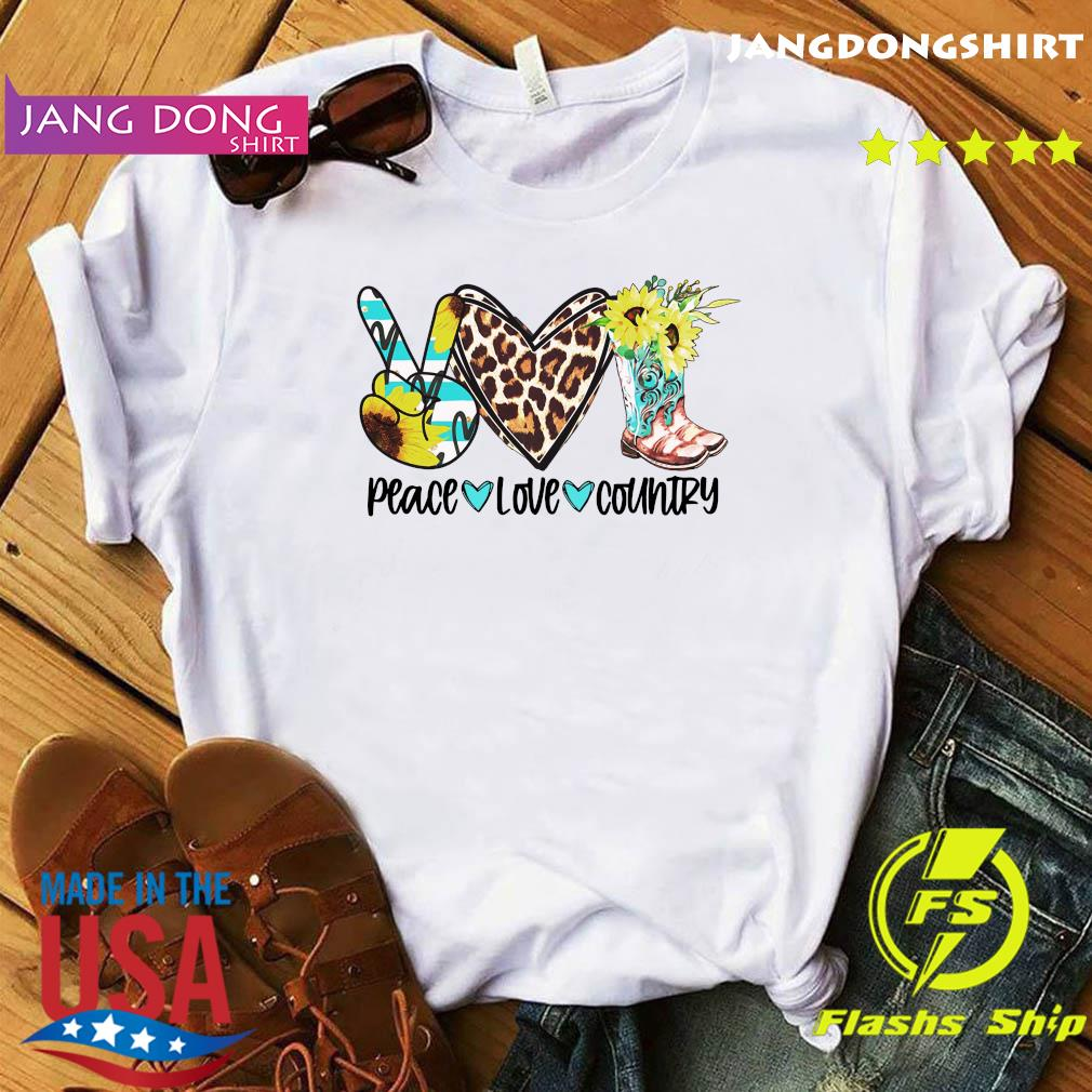 Official Peace Love Country Shirt