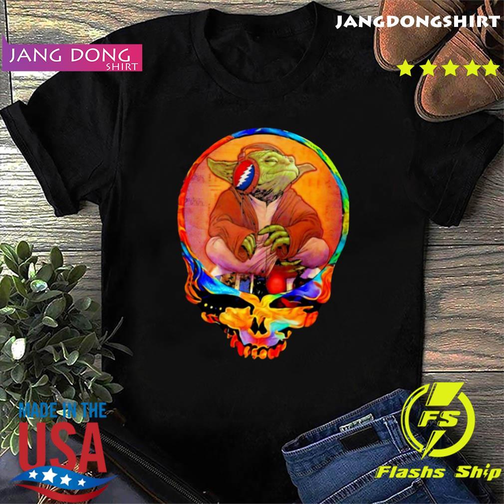 Official Skull Grateful Dead Star Wars Master Yoda Shirt