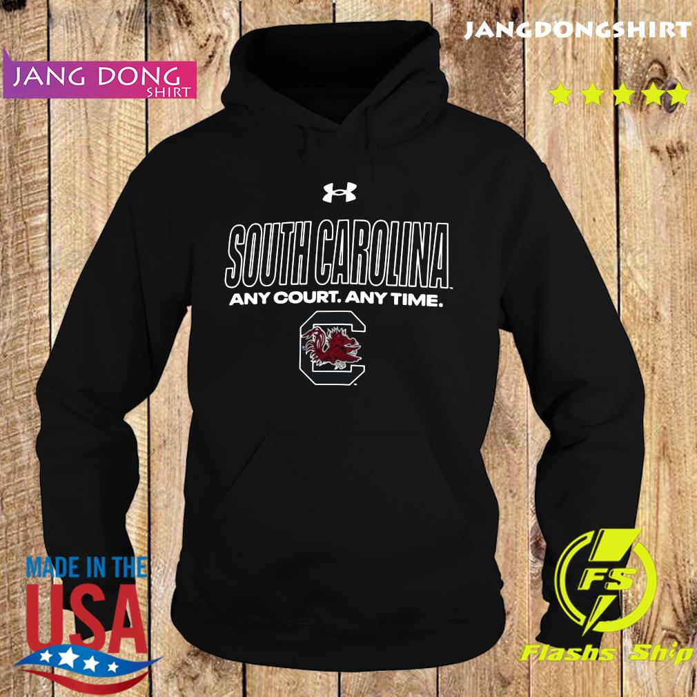 Official South Carolina Any Court Any Time Shirt Hoodie